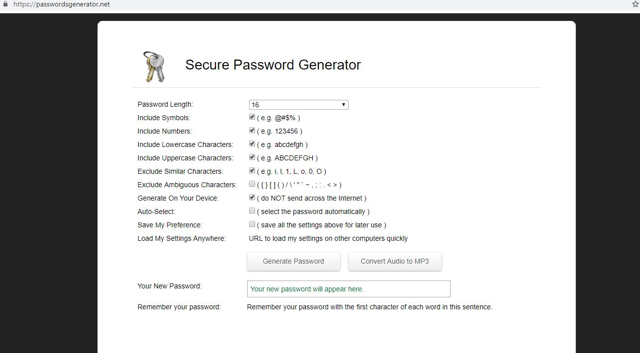 secure your password generator - enenewsghana