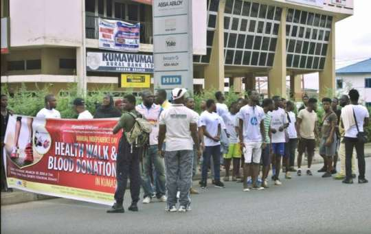 Hundreds participate in Mamedia Walk in Kumasi