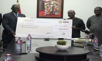 GCNet presents GH¢20million dividend to government
