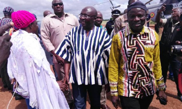 Vice President Bawumia visits victims of Upper East rainfall disaster