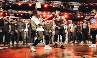 Shatta Wale And Stonebwoy Dance Together At 4syte TV Studio