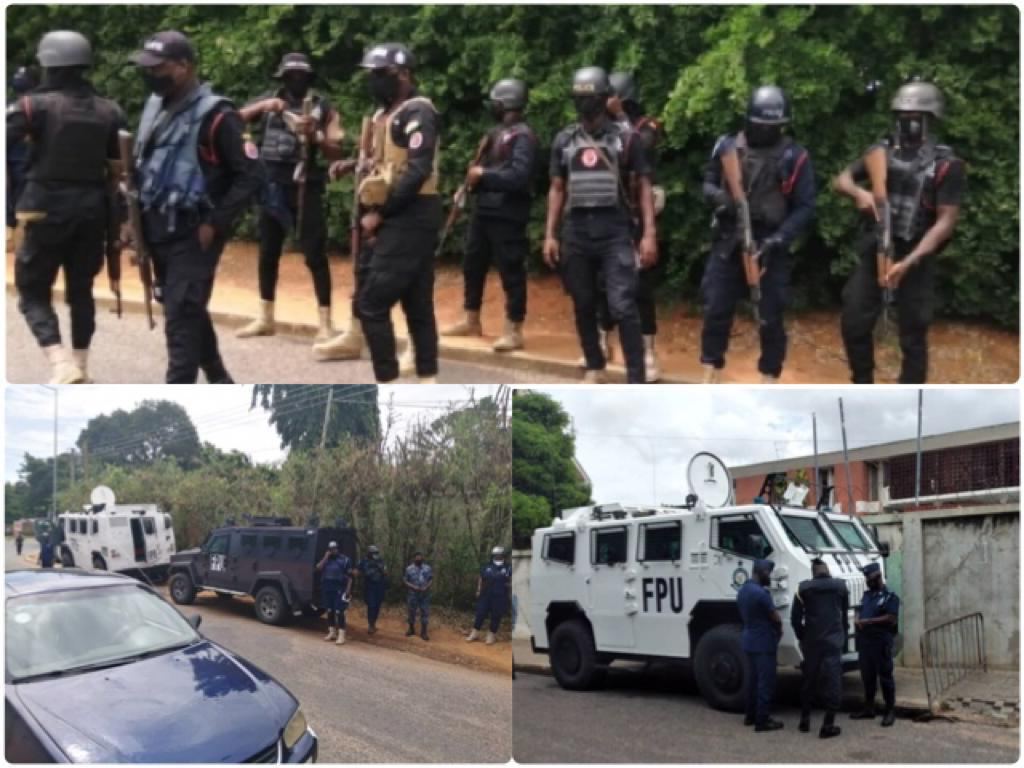 Ghanaians Reacts As EC Organizes IPAC Meeting With Heavily Armed Security Men