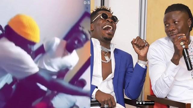 Stonebwoy And Shatta Wale Spotted Chilling Together Inside 4syte Mansion