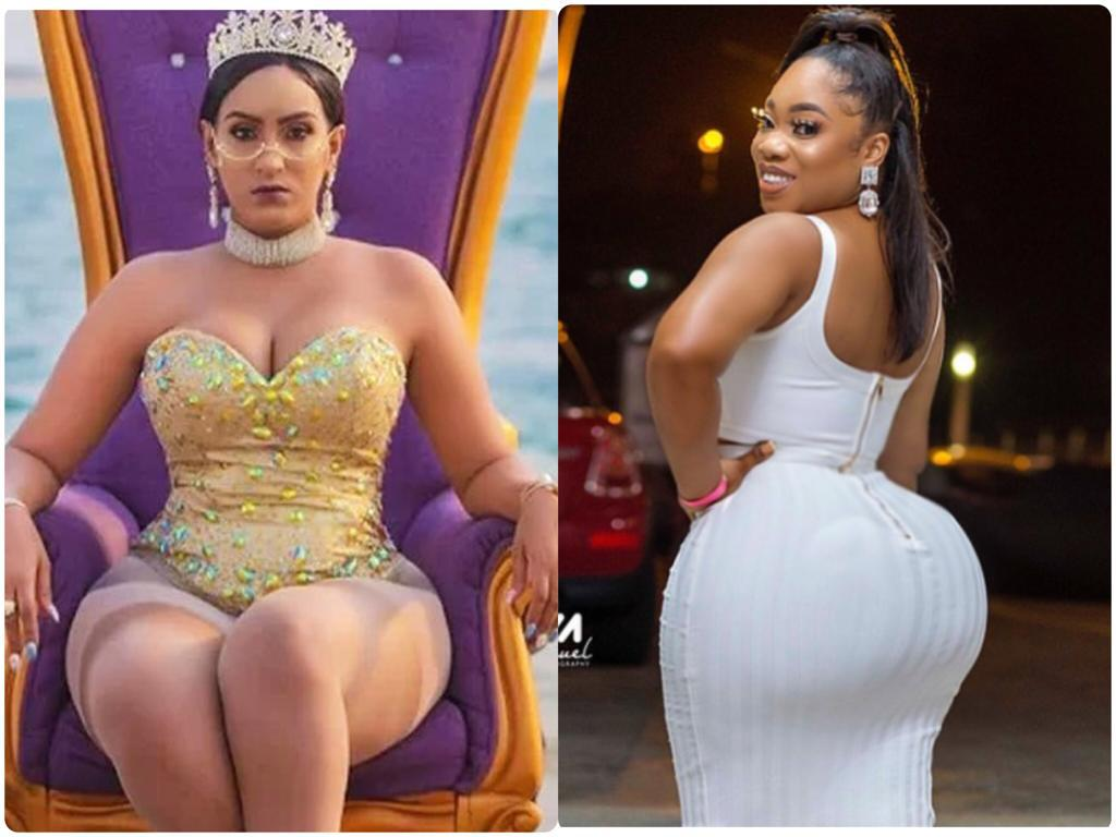 Between Juliet Ibrahim And Moesha Boduong; Who Has A Better Shape? See Their Photos