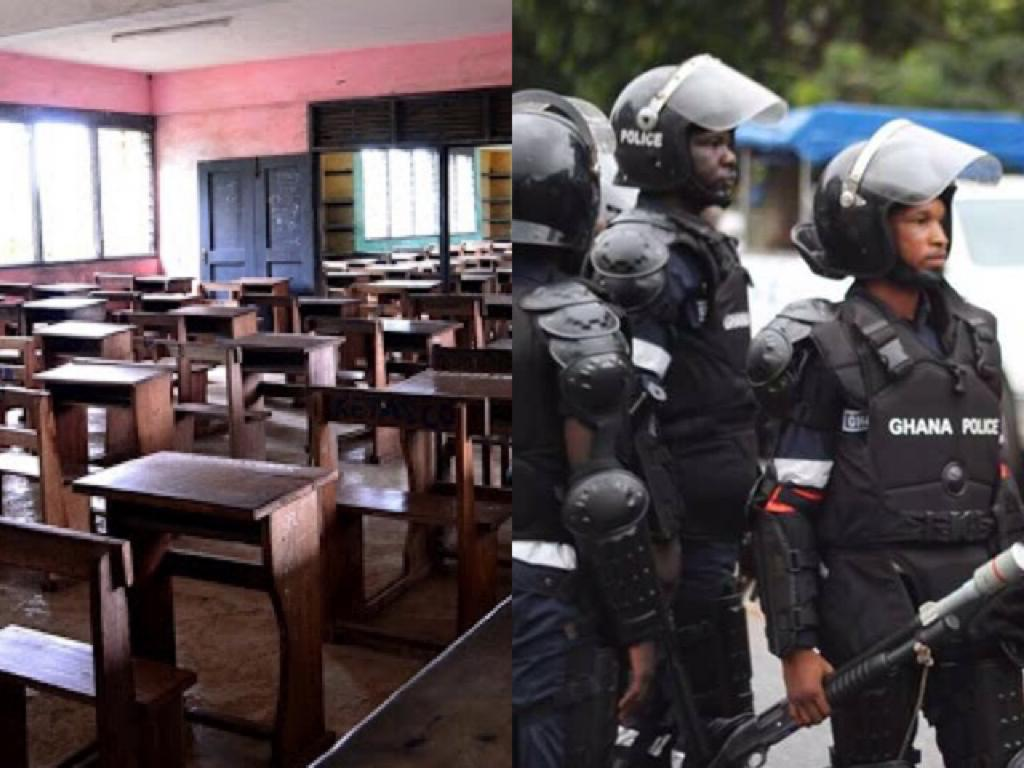 Kpandai Senior High School Students On The Run After Attacking Police Commander