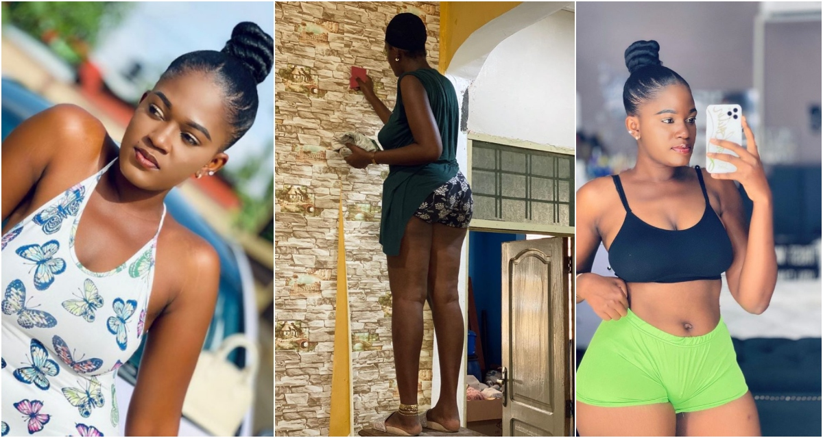 See 10 Tempting Pictures Of Nana Ama, The Beautiful Female Ghanaian Carpenter
