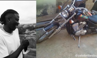 Stonebwoy Fluants Motorbike Prize He Won In A Dancehall Competition In 2010