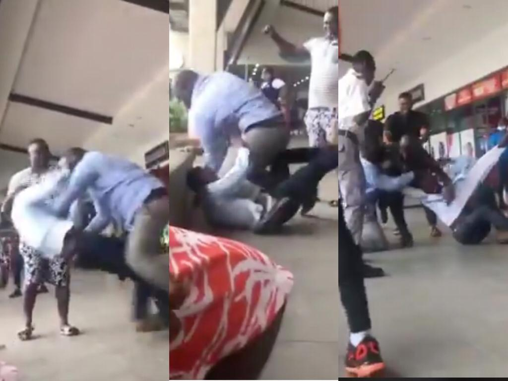 NPP And NDC Customers At Kumasi Mall Fight Among Themselves Over Which Political Party Built The Mall