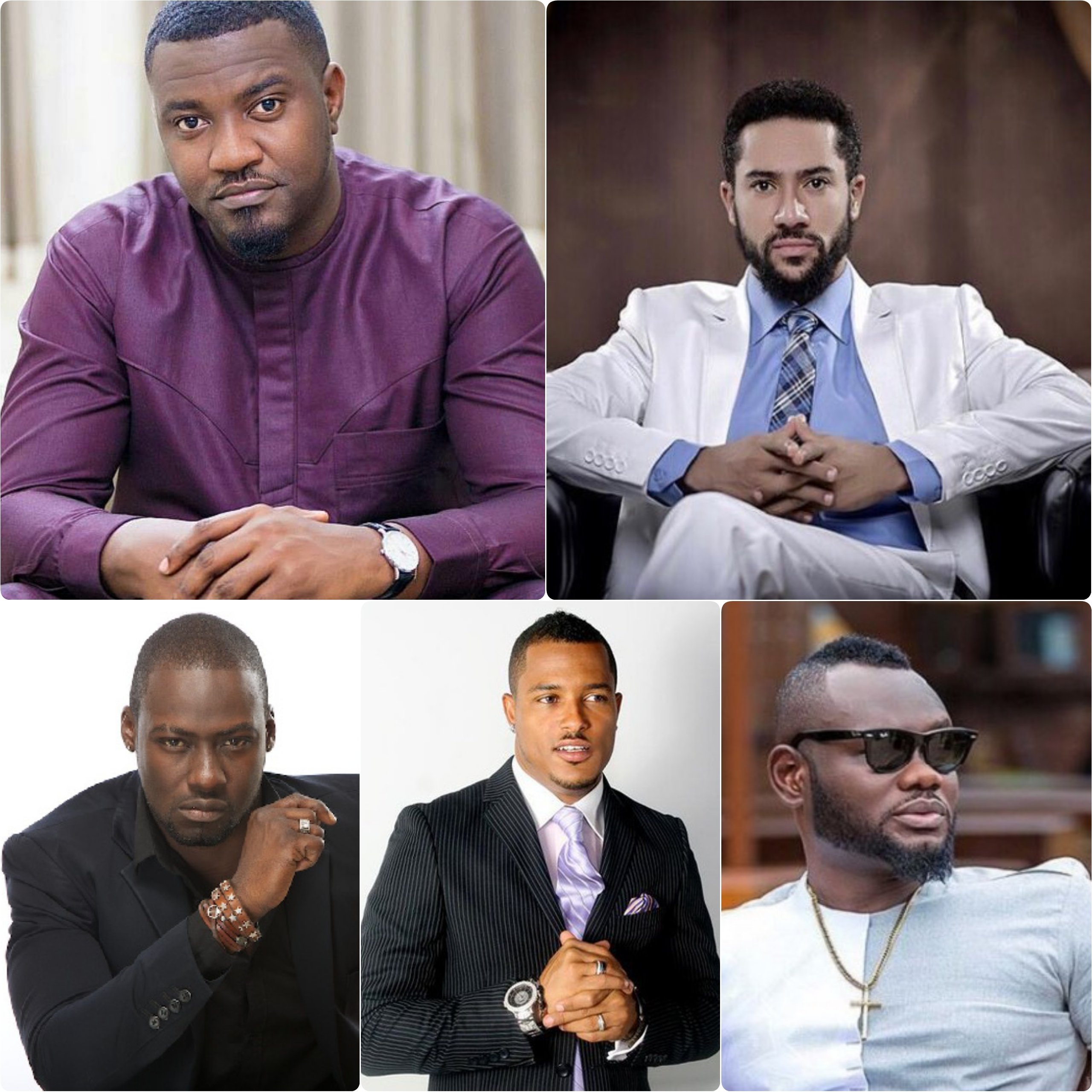 Celebrity Profile: 5 Most Hottest Ghanaian Male Celebrities