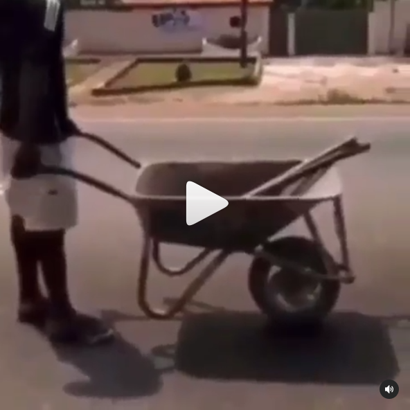 Man Joining Traffic With His Wheelbarrow Causes Stir on Social Media [Video]