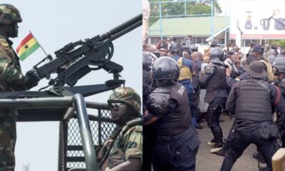 Videos: Government Sends Armed Police To Prevent NDC MPs From Petitioning The EC Office