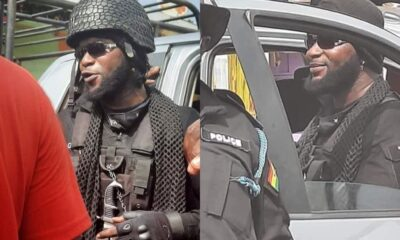 Identity Of The Bearded Police With Earring Finally Revealed, Shows He's The Brother Of An NPP MP
