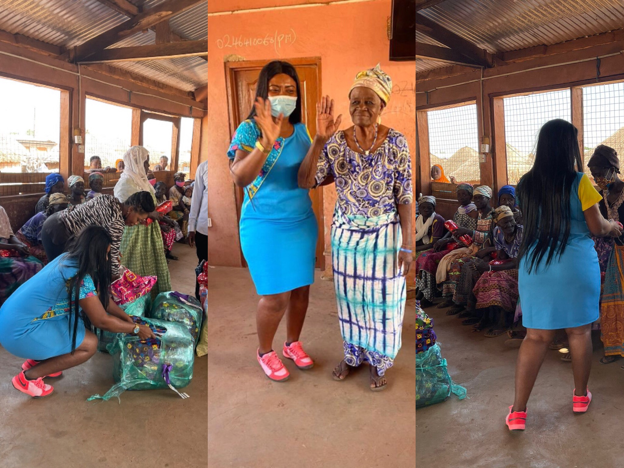 Kind-Hearted Bridget Otoo Celebrates Her Boxing Day With Women At Gambaga Witches Camp In Northern Region