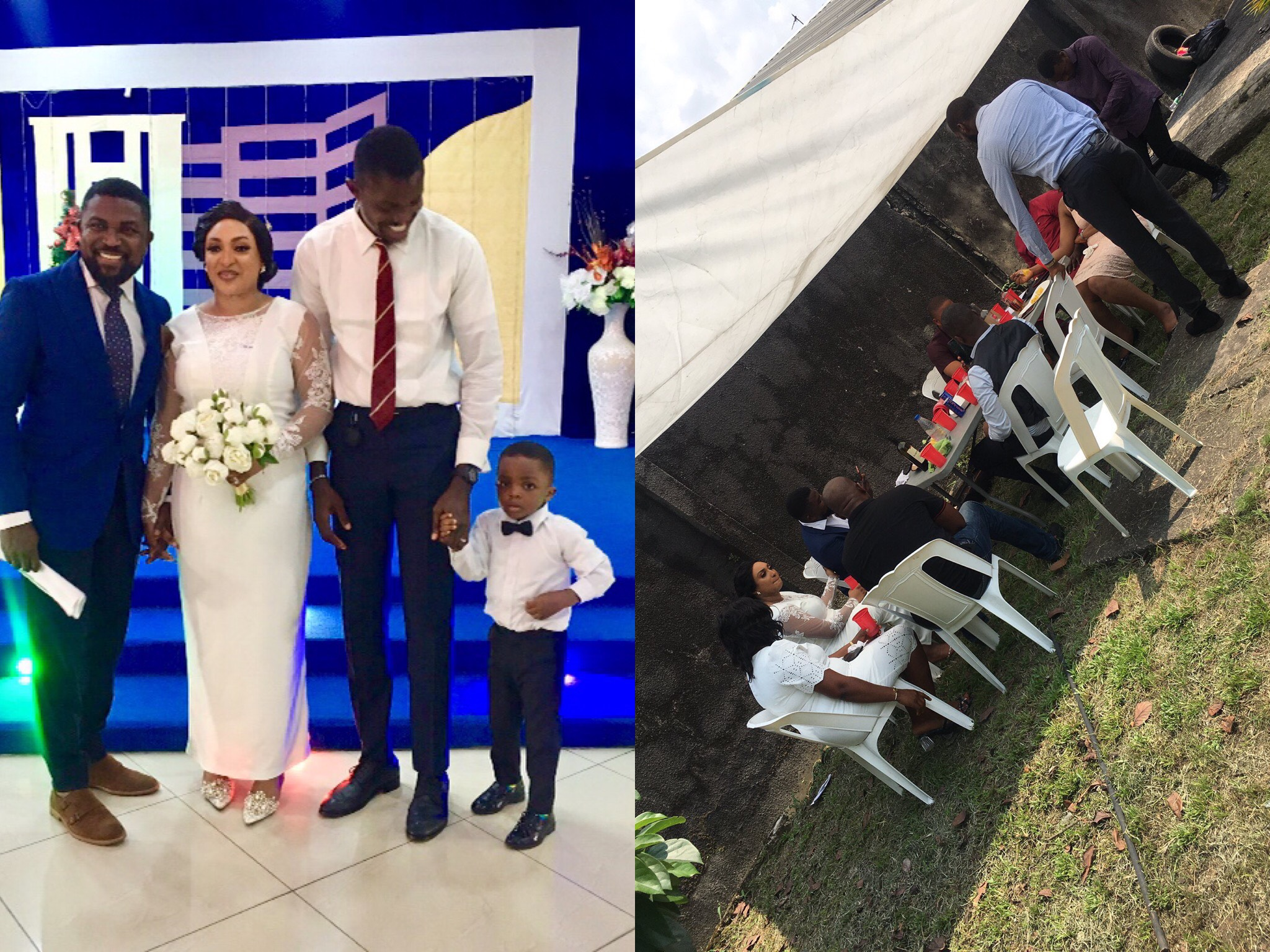Photos: Reactions As Couple Holds Wedding Reception With Just 7 Guests Under 1 Canopy