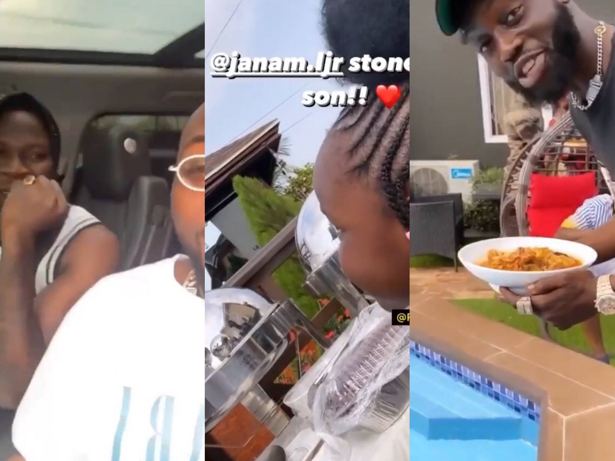 Stonebwoy's Wife, Dr. Louisa Cooks Fufu For Davido & His DMW Crew As They Host Them After His Fight With Burna Boy