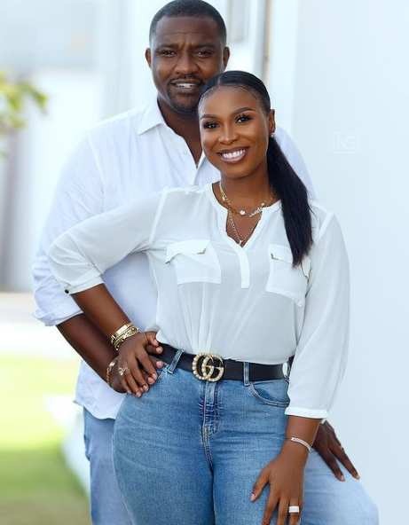 John Dumelo's wife Breaks Silence After His Loss in the Parliamentary Elections