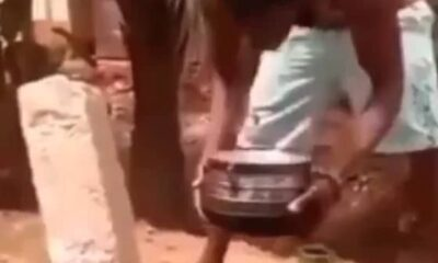 (Video) Man Suspends a Brick and Pot on a Bottle