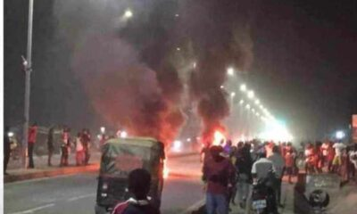 Tamale Tension: Peace Restored Following Burning of Tyres By NDC Supporters [Video+Photos]