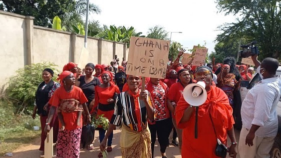 NPP Supporters March In Protest Against Akufo-Addo's Nominee For Volta Regional Minister