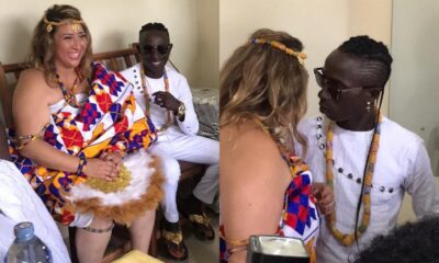 First video from Patapaa's marriage ceremony with his white girlfriend hits online