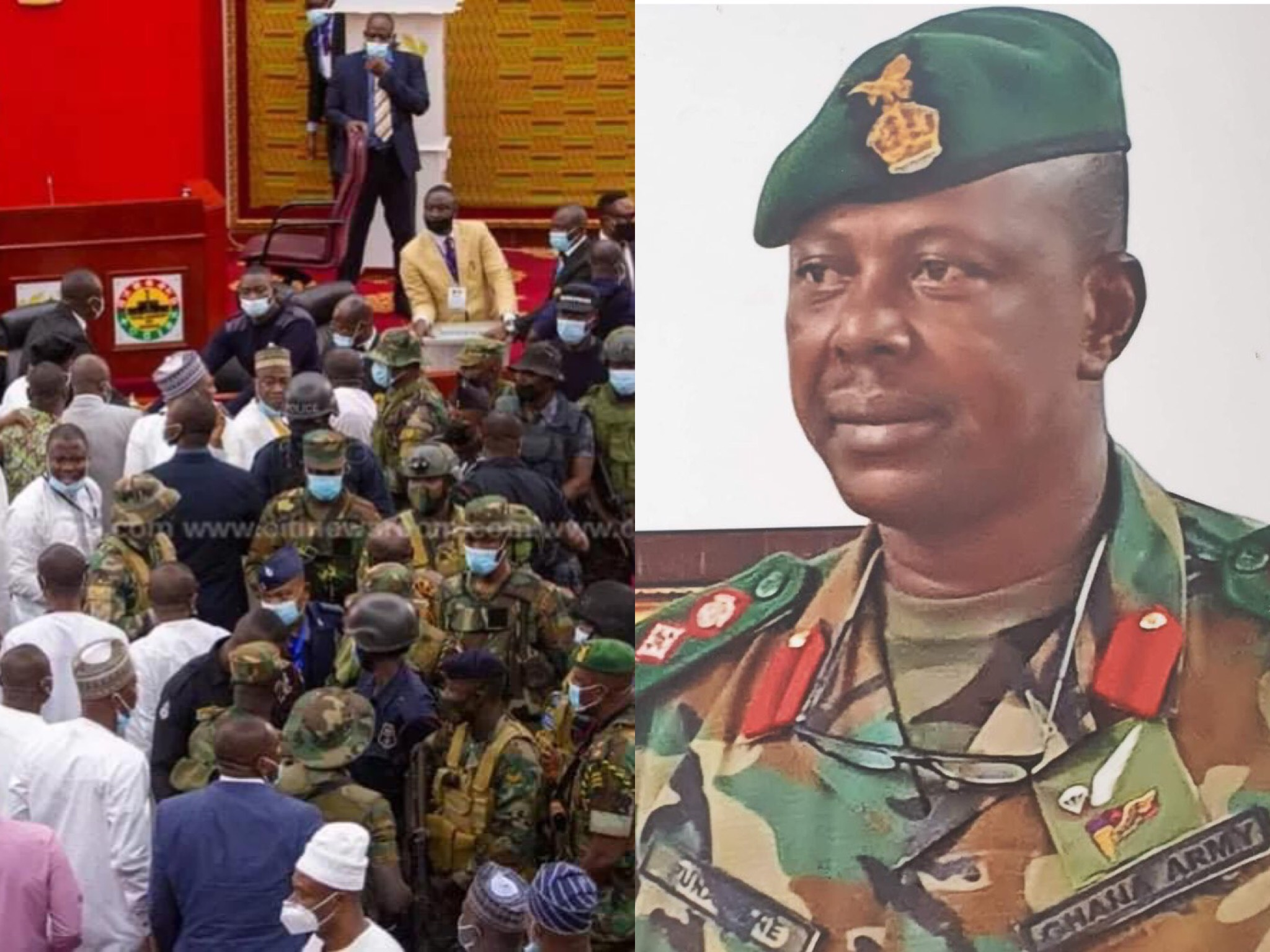 Identity of The Soldier Who Led The Military to Invade Parliament to Intimidate NDC MPs Finally Revealed - Photos