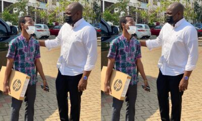 John Dumelo Fulfills Promise Even After Losing Election, Donates Another New Laptop To A Medical Student