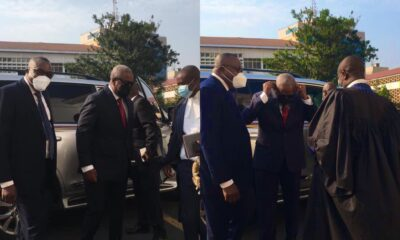 John Mahama and His Lawyers Arrive at the Supreme Court for the 2020 Election Petition Hearing