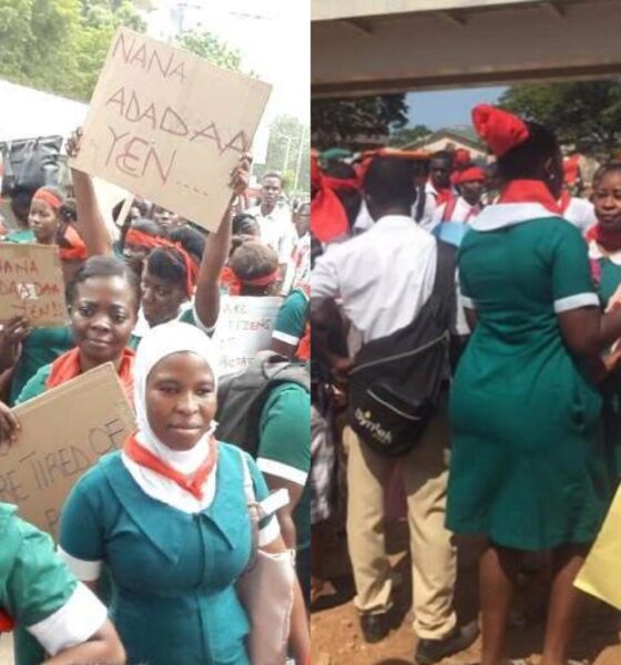 Video: We are prost!tuting because Ghana government's stopped paying us our salaries - Frustrated Nurses Demonstrate