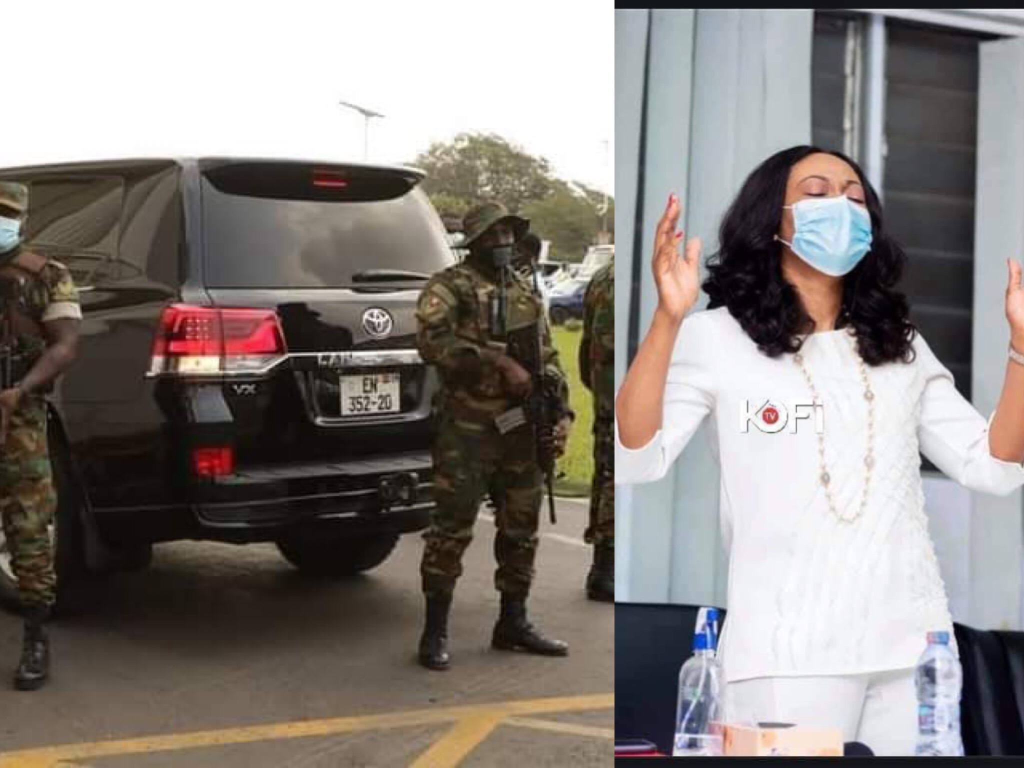 Jean Mensah Storms Supreme Court With Over 50 Military Men Guarding Her