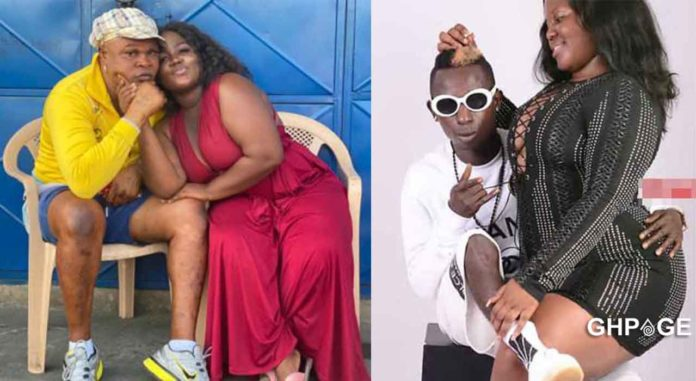Patapaa's ex-girlfriend, Queen Peezy Shares Romantic Kisses With Bukom Banku as She Finds Love