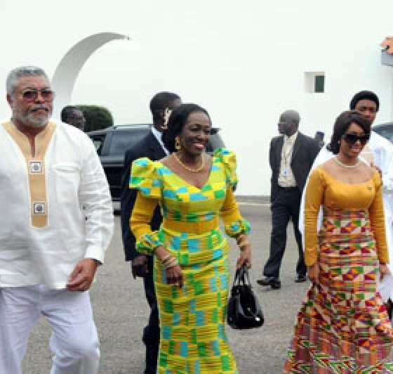 Security Operatives Prevent Rawlings' Alleged Daughter From Paying Her Last Respects