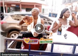 [Watch] Rare Wedding as Couple Ride in 'Aboboyaa'
