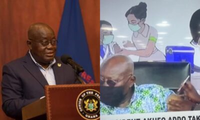 Video: Akufo-Addo Receives COVID-19 Vaccine Live on TV