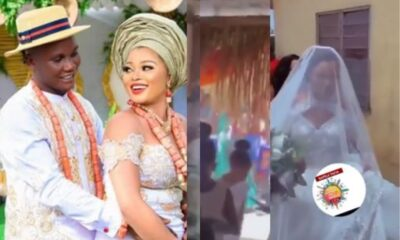 Video: Beautiful Couple Cause Stir Online After They Had Their Wedding In A Shrine
