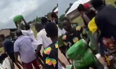 Busunu: 'We Want Jobs Not Rice' Says Youth As They Reject Sallah Rice From Damango MP [Watch]