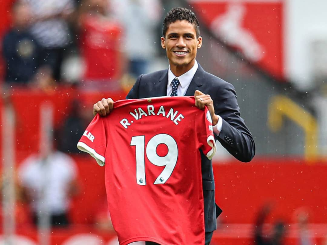 OFFICIAL: Man United Completes Raphael Varane Signing From Real Madrid
