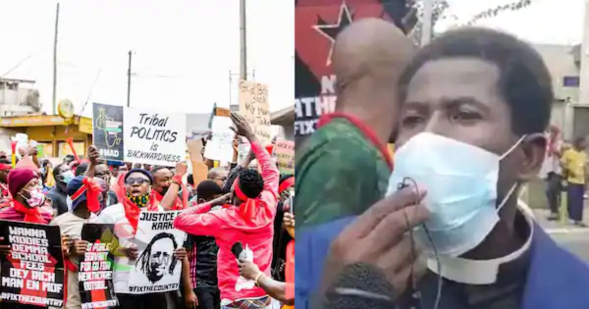 Pastor Joins #FixTheCountry Demo Because 'Broke' Members Can't Pay Enough Tithe And Offerings [VIDEO]