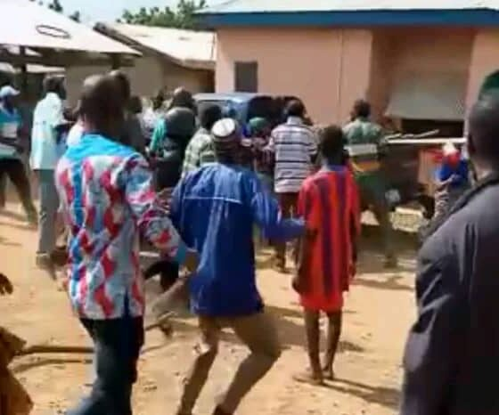 Chereponi NPP Youth Vandalize Properties, Assault Chairman Over DCE Nomination (Watch)