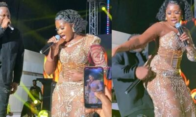 GMAUK21: Medikal 'Faints' Behind His Wife Fella Makafui While Grinding Her Backside On Stage (Watch)